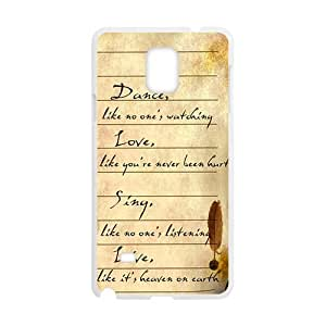 Personal Customization Artistic Poetry notes Cell Phone Case for Samsung Galaxy Note4