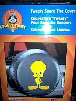 (Looney Tunes Lil Tweety Bird Jeep Spare Tire Cover Truck/SUV 27-30