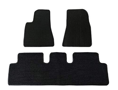 Car Rubber Classic Loop Floor Mat Waterproof Car Carpet/Coil Compatible Model 3(3 pieces/set)
