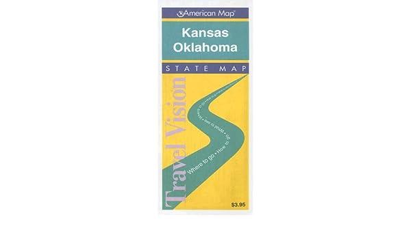 State Map Of Kansas And Oklahoma.Kansas Oklahoma Road Map Travelvision State Maps American Map