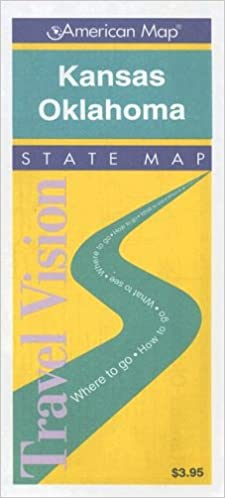 State Map Of Kansas And Oklahoma.Kansas Oklahoma Road Map Travelvision State Maps American Map