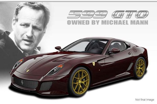 Hot wheels V7424 Michael Mann Ferrari 599 GTO Burgundy Elite Edition 1/18 Diecast Model Car by Hotwheels