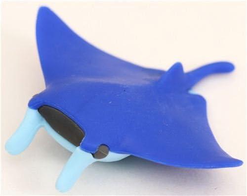 blue fish manta skate eraser by Iwako