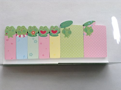 Cute Frog Sticker Post-it Bookmark Marker Memo Index Tab Sticky Note 210 Pages