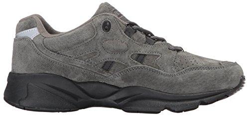 Propét Womens Stabilità Walker Sneaker In Pelle Scamosciata Peltro