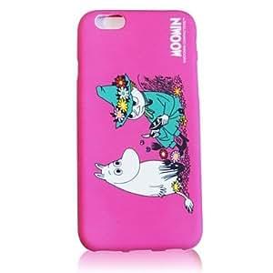 WQQ caso suave del tpu moomin para el iphone 6 , Rose