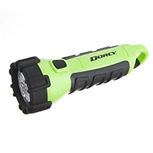 Dorcy 55-Lumen Waterproof Floating LED Flashlight with Carabiner Clip, Neon Green (41-2513)