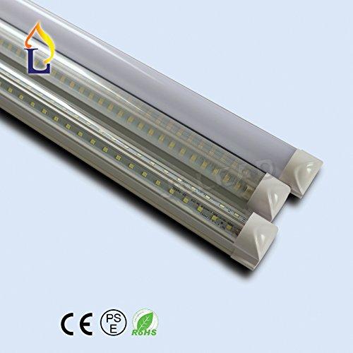 (100 PACK) Integrated 3ft 900mm 30W commercial Led T8 V shape Tube light SMD2835 144LEDS light tube cooler store home lighting by JLLEAD
