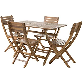 Amazon.com: Ikea ÄPPLARÖ Outdoor Wooden Folding Bistro Table and 2 ...