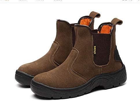 SHENGHUAJIE Welding Welder Protective Anti-Penetration Iron Toe High Cut Work Safety Boot Slip on Shoes