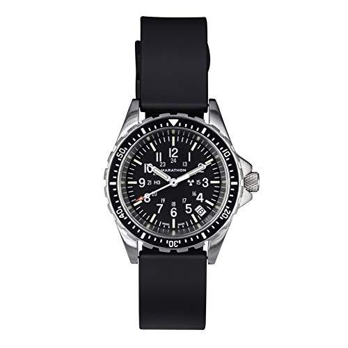 Marathon Watch WW194027 Swiss Made Military Issue Milspec Diver's Quartz Medium Watch with Tritium Illumination (36mm, Rubber Strap)