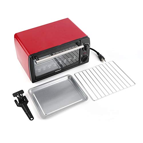 (KONKA Electric Oven Household Multifunctional 12L Mini Galvanized Sheet Baking Oven KAO-1202 1050W With Bakeware)