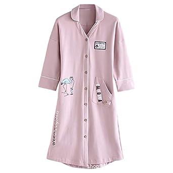 Camisón de Mujer Cardigan Dulce Encantador algodón Pijamas de ...