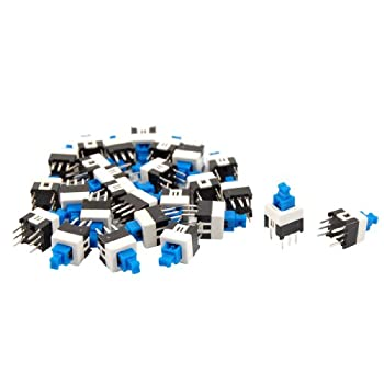 uxcell® 40 Pcs 7 x 7mm PCB Momentary Push Button Tact Tactile Switch Non-lock 6 Pin DIP