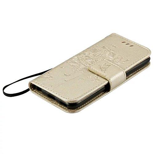JIALUN-carcasa de telefono Caja de cuero de la PU de la cubierta del silicón de la cubierta del silicón de la caja del cuero sólido con la correa de mano para el tacto 5 de IPod ( Color : Pink , Size  Gold
