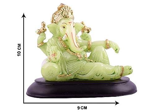 Affaires Radium Glow Ganeshji, Ganesh, Ganpati Murti Idol Statue Sculpture for car /office Decor, Ideal Gift to Your Loved Ones G-458 - Scultura Auto