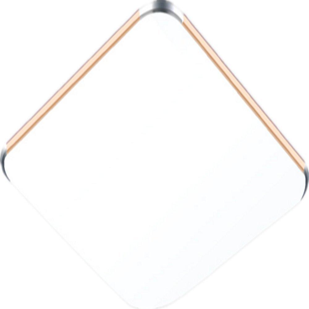 MCTECH 24W LED Deckenleuchte Ultraslim Modern Deckenlampe Flur Wohnzimmer Lampe Schlafzimmer Küche Energie Sparen Licht Wandleuchte Farbe Silber Kaltweiß