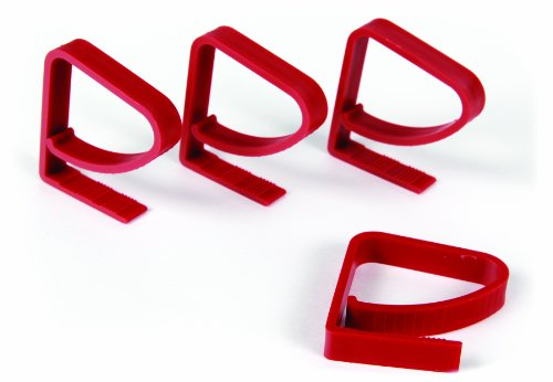 Camco 44003 Plastic Tablecloth Clamps-4-Pack, Red, 4 Pack