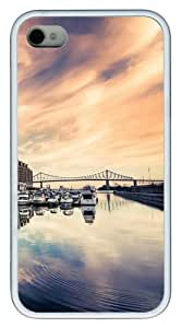 iPhone 4S/4 Case Cover - Luxury Boats In Port Stylish Custom Design iPhone 4s/4 Case and Cover - TPU - White