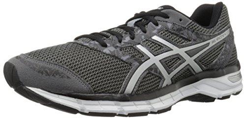 ASICS Men's Gel-Excite 4 Running Shoe, Carbon/Silver/Black, 8.5 M US