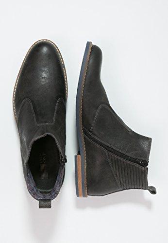 Boots One amp; � Lederschuhe Zuglasche Klassisch Aus amp; Stiefeletten Pier mit Herren � � Schuhe Elegant Leder Grau Halbhoch Grau Kurzschaft Chelsea Cognac o CqwOdxP