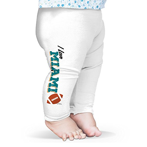 Twisted Envy Baby I Love Miami American Football Leggings Trousers 18 - 24 Months White