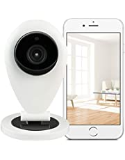 HiKam S6 Überwachungskamera mit Personendetektion, Alexa kompatibel, kostenlose Cloud in DE, Datensicherheit mit Deutscher Server App Anleitung Support, WLAN IP Kamera HD, Babyphone, Haustier