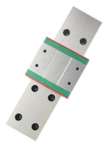 TEN-HIGH linear rail, 1pcs CNC Parts MR15 MGW15 Miniature Linear Guide Rail Way Slide 400mm+1pcs MGW15C Slider Miniature Linear Motion Guide Way