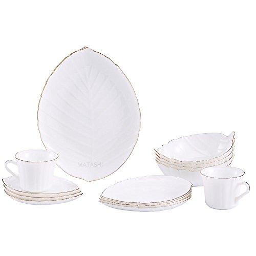 Matashi Opal Glassware Dinnerware Set – Heat Resistant –