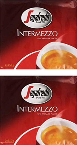 Segafredo: 'Intermezzo' Ground Coffee, Classic Blend * 8.8 Ounce (250gr) Package (Pack of 4) * [ Italian Import ]