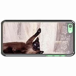 iPhone 5C Black Hardshell Case playful shower curtain Desin Images Protector Back Cover