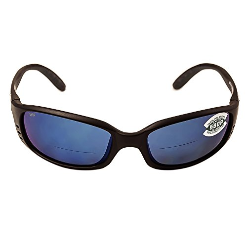 Costa Del Mar Brine C-Mate 1.50 Sunglasses, Matte Black, Blue Mirror 580P - Costa Brine Readers