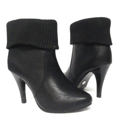 Botines Con Tacón Alto Para Mujer Negro 5.5-10 Negro