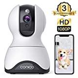 Pet Camera,Conico 1080P HD Wireless IP Camera with Sound and Motion Detection Two-Way Audio,Pan/Tilt/Zoom WiFi Dome Camera,Home Security Baby Monitor with Night Vision Works with Alexa