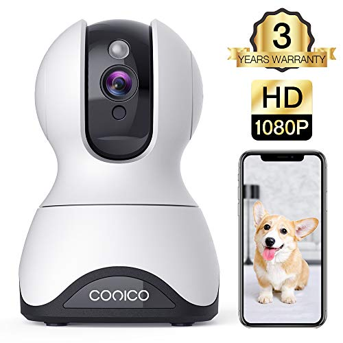Pet Camera,Conico 1080P HD Wireless IP Camera with Sound and Motion Detection Two-Way Audio,Pan/Tilt/Zoom WiFi Dome Camera,Home Security Baby Monitor with Night Vision Work with Alexa