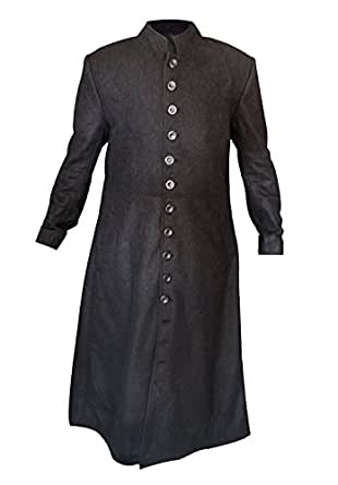 Matrix Neo Keanu Reeves Full Length Woolen Mens Trench Coat (XX-Large)