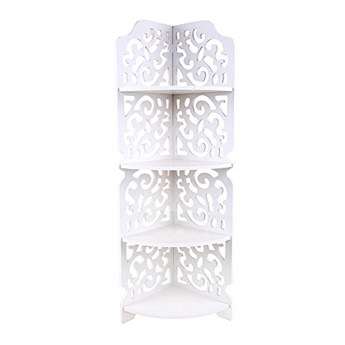 Yosoo Weißen Hohlen Geschnitzt Küche Badezimmer Storage Möbel