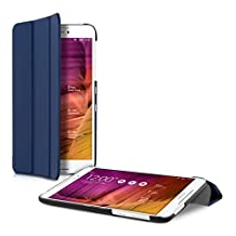 kwmobile Ultra Slim Smart Cover for Asus Fonepad 8 FE380CG ME380CXG FE380CXG in dark blue with convenient stand function
