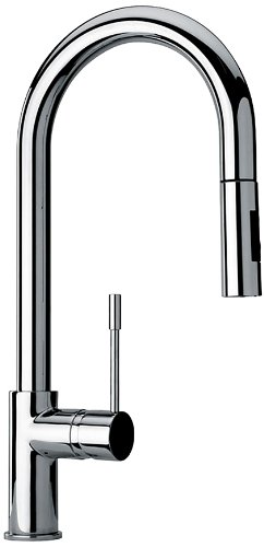 Jewel Faucets 25592  Single Hole Kitchen Faucet with Goose Neck Spout in Chrome from Jewel Faucets