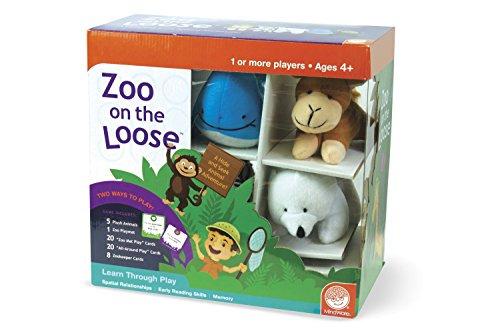 MindWare Zoo on The Loose: Stuffed Animal Color Matching Game for Kids
