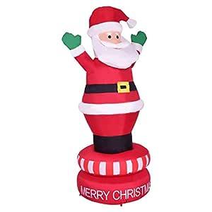 LCYCN 6 pies / 1,8 m Hinchable Giratorio Santa Claus con ...