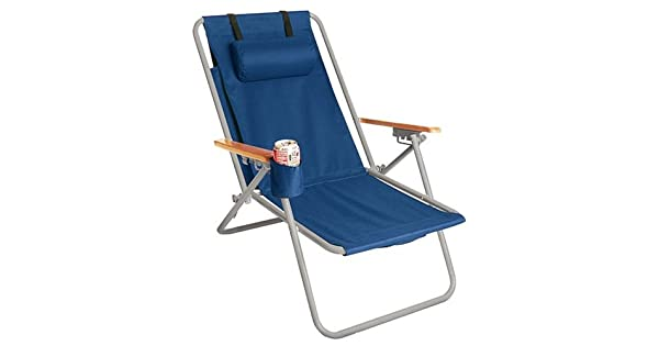 Amazon.com: Silla de playa de acero WearEver Hi-Back Deluxe ...