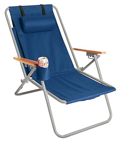 Amazon.com: Silla de playa de acero WearEver Hi-Back Deluxe ...
