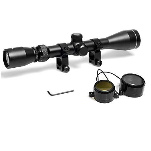 Goetland 3-9x40 Lunettes de Visée Optique R4 Réticule Tactique en Croix Chasse avec Montures 1