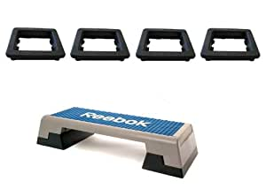 Reebok - Patas de goma para step de Reebok (4 unidades)