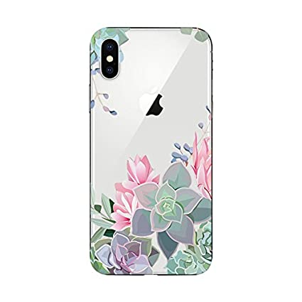 new arrival a1dbe ef97e Amazon.com: Fancy Case iPhone X Case/iPhone Xs Case,Clear Fruits and ...