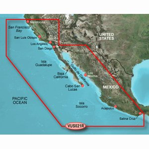 Garmin Vus021r California Mexico Bluechart G2 Vision