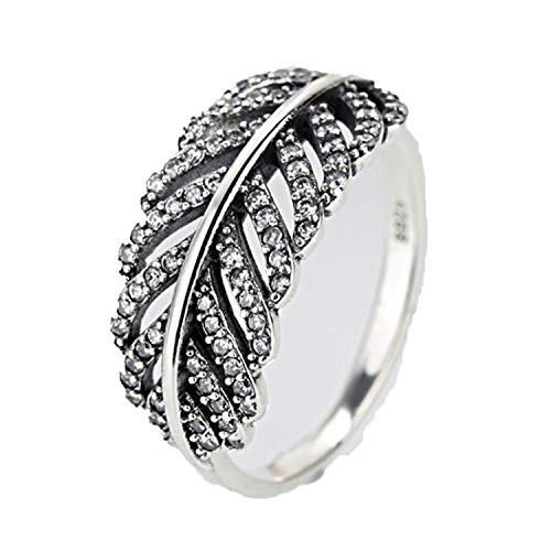 - DLNCTD Fashion Crystal Silver Color Ring for Women Flower Love Heart Crown Finger Rings Cocktail Part Brand Ring Jewelry,7,27