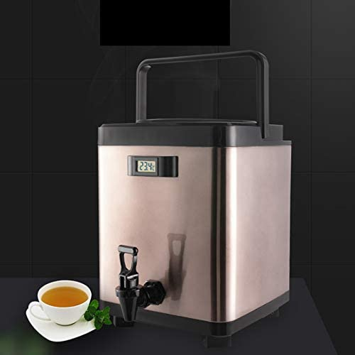 Household Products Distributeur d'eau Chaude Domestique Commercial 6/8 / 10L, Bouilloire/Thermos/Seau à Glace en Acier Inoxydable, 3 Couches d'isolation Efficace