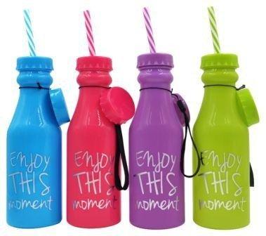 DISOK - Botella PVC Enjoy - Ideales para Detalles para Bodas, Cumpleaños - Precio Unitario